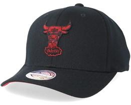Chicago Bulls Melange Logo 110 Black Adjustable - Mitchell & Ness