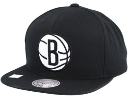 Brooklyn Nets Under Visor Black Snapback - Mitchell & Ness