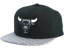 Chicago Bulls Primary Reflect Black Snapback - Mitchell & Ness