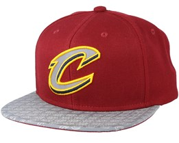 Cleveland Cavaliers Primary Reflect Burgundy Snapback - Mitchell & Ness