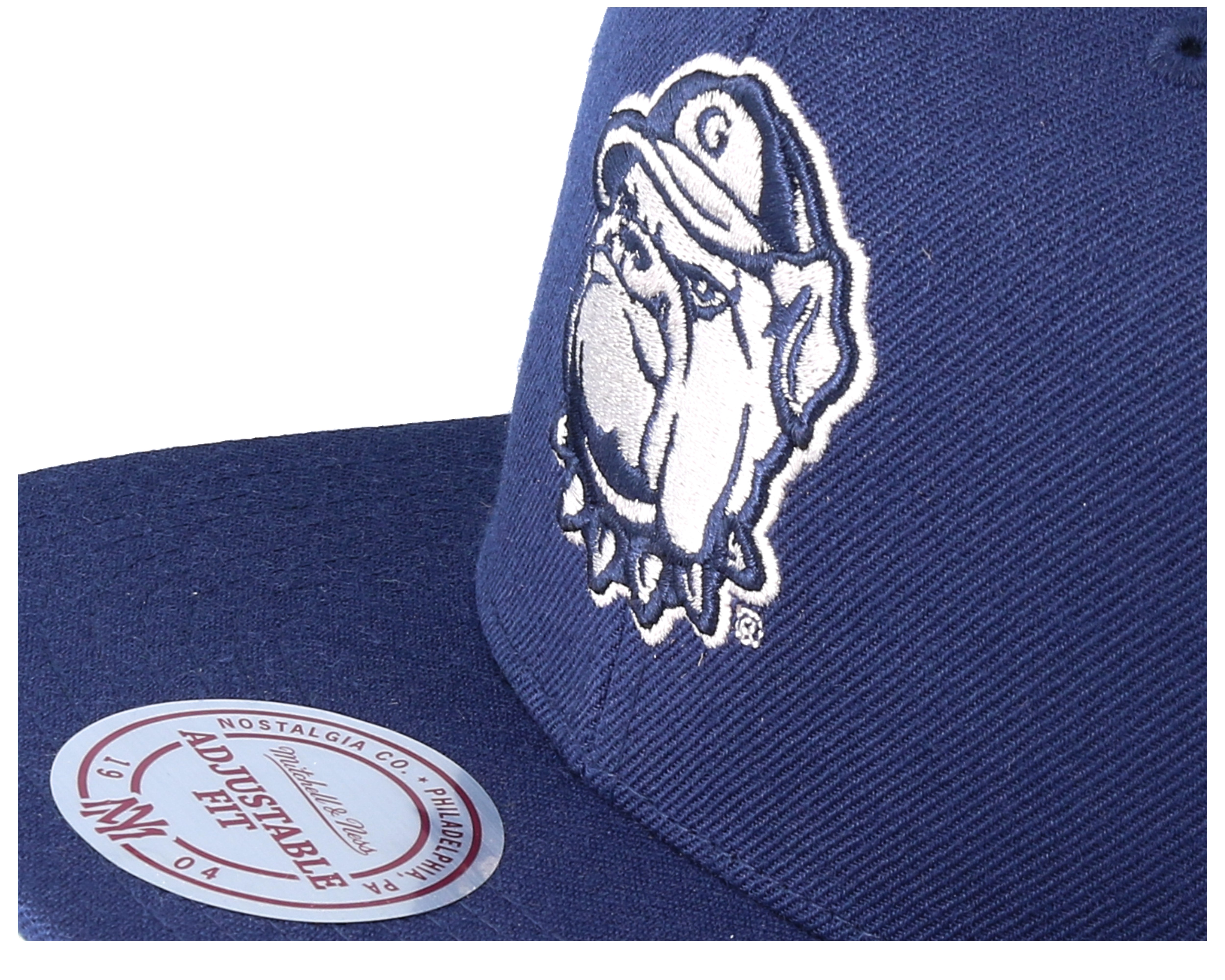 Georgetown hoyas wool solid navy snapback mitchell for Georgetown tattoo shops