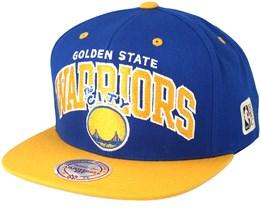 Golden State Warriors Team Arch Blue/Yellow Snapback - Mitchell & Ness
