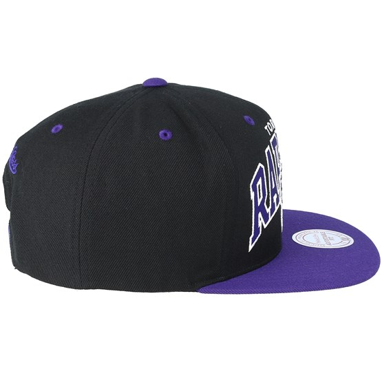 Toronto Raptors Team Arch Black Purple Snapback - Mitchell   Ness caps  bb5e4058765f