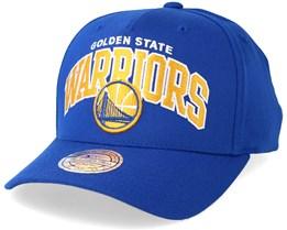 Golden State Warriors Team Arch Pinch Panel Blue 110 Adjustable - Mitchell & Ness