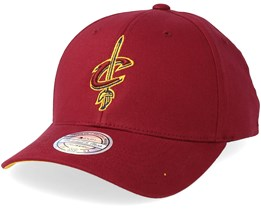 Cleveland Cavaliers Team Arch Low Pro Burgundy 110 Adjustable - Mitchell & Ness