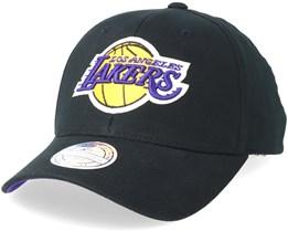 LA Lakers Team Arch Low Pro Black 110 Adjustable - Mitchell & Ness