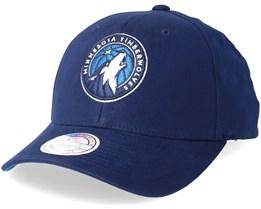 Minnesota Timberwolves Team Arch Low Pro Burgundy 110 Adjustable - Mitchell & Ness