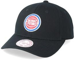 Detroit Pistons Team Logo Low Pro Black Adjustable - Mitchell & Ness