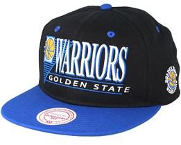 Golden State Warriors Horizon Black/Blue Snapback - Mitchell & Ness