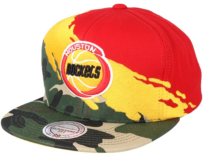 5987ae8ec68 Houston Rockets Hwc Paintbrush Camo Snapback - Mitchell   Ness caps ...