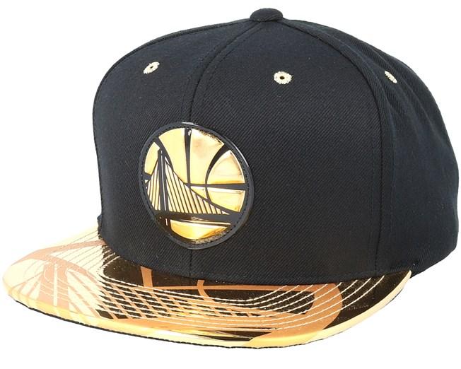 Golden State Warriors Gold Standard Black Snapback - Mitchell   Ness caps  00fb72d331a1