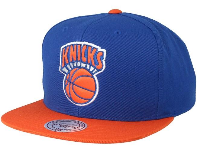 574fe23dedf New York Knicks Satin Fused Blue Snapback - Mitchell   Ness caps ...
