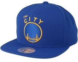 Golden State Warriors Wool Solid Blue Snapback - Mitchell & Ness