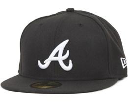 Atlanta Braves MLB Basic Black/White 59fifty - New Era
