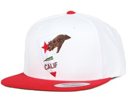 Cali State White/Red Snapback - Famous S&S