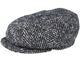 Montreal 100% Wool Grey Herringbone Flat Cap - MJM Hats