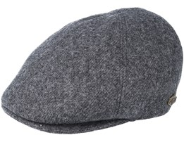Broker 100% Wool 201 Grey Flat Cap - MJM Hats