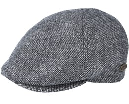 Broker 100% Eco Merino Wool Grey Flat Cap - MJM Hats