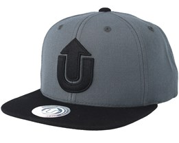 Logo Dark Grey/Black Snapback - Upfront