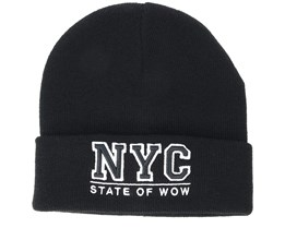 Kids Toronto Junior Fold Black Beanie - Upfront