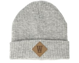 Kids West Junior Light Grey Melange Beanie - Upfront