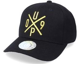 UP09 Baseball Cap Black/Gold Adjustable - Upfront