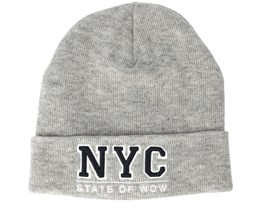 Kids Toronto Junior Fold Light Grey Melange Beanie - Upfront