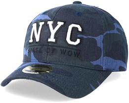 Kids NYC Baseball Blue Camo Adjustable - State Of Wow
