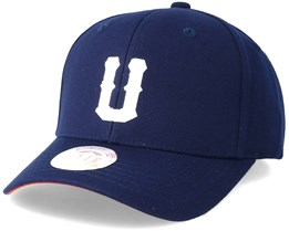 United Terry Baseball Cap Navy Blue Adjustable - Upfront