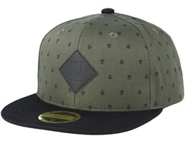 Kids Skull Army/Black Snapback - State Of Wow