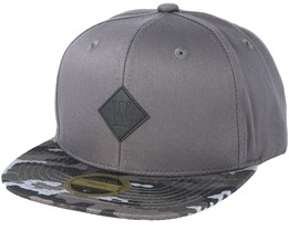Kids West 2-tone Youth Grey/Pattern Snapback - State Of Wow