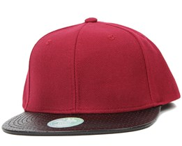 Two Tones Perforated Bordeaux/Black Snapback - State Of Wow