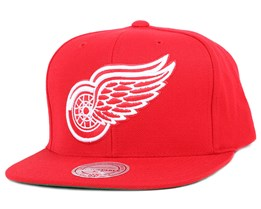 Detroit Red Wings Wool Solid Red Snapback - Mitchell & Ness