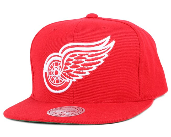 1e213b8ae10eb ... australia detroit red wings wool solid red snapback mitchell ness d0593  9320e