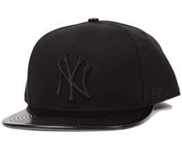 NY Yankees Shinedown Black/Black Snapback - 47 Brand