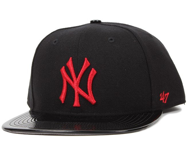 NY Yankees Shinedown Black/Red Snapback - 47 Brand