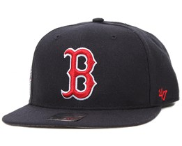 Boston Red Sox Sure Shot Navy/Red Snapback - 47 Brand