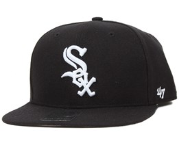 Chicago White Sox Sure Shot Black/White Snapback - 47 Brand