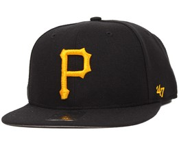 Pittsburgh Pirates Sure Shot Black/Yellow Snapback - 47 Brand