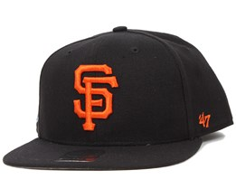 SF Giants Sure Shot Black/Orange Snapback - 47 Brand