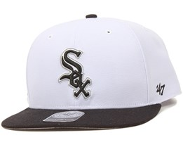 Chicago White Sox Sure Shot 2 Tone White/Black Snapback - 47 Brand