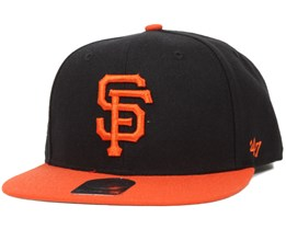 SF Giants Sure Shot 2 Tone Black/Orange Snapback - 47 Brand