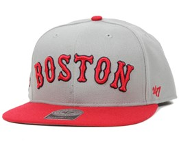 Boston Red Sox Script Side Grey Snapback - 47 Brand