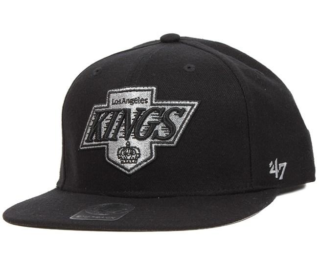 La Kings Sure Shot Black Snapback - 47 Brand