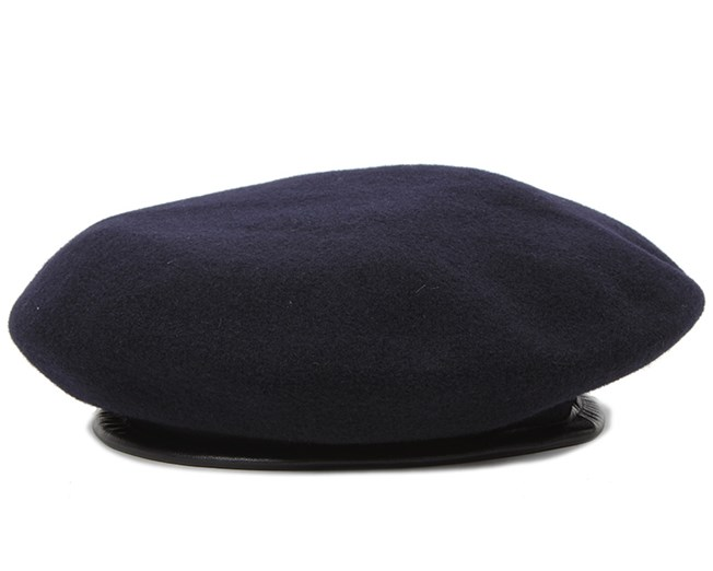 Wool Monty Dark Blue Beret - Kangol