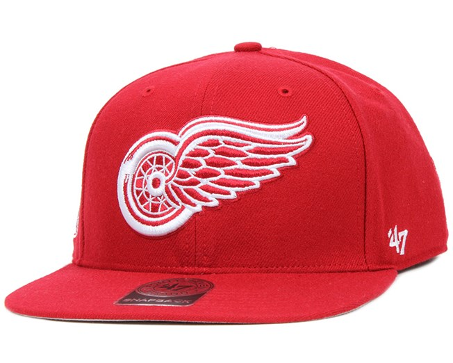 Detroit Red Wings Sure Shot Red Snapback - 47 Brand