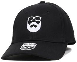 Logo Black Flexfit - Bearded Man
