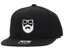 Logo Black Snapback - Bearded Man
