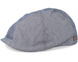 Muroff Denim Pinstripe Flat Cap - Bailey