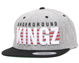 Underground Kingz Grey/Black Snapback - Mister Tee